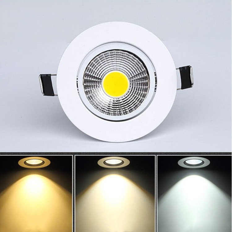 3w 5w 7w 10w 12w 15w Led Downlight outdoor COB Dimmable Led Ceiling Lamp Bulb Recessed downlights co