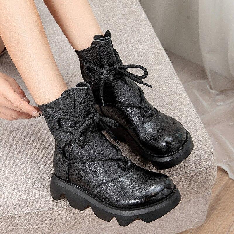 جديد النساء الأحذية مكتنزة تنفس الشتاء الأحذية المطاطية مكتنزة شقة النساء حذاء من الجلد تنفس الاحذية