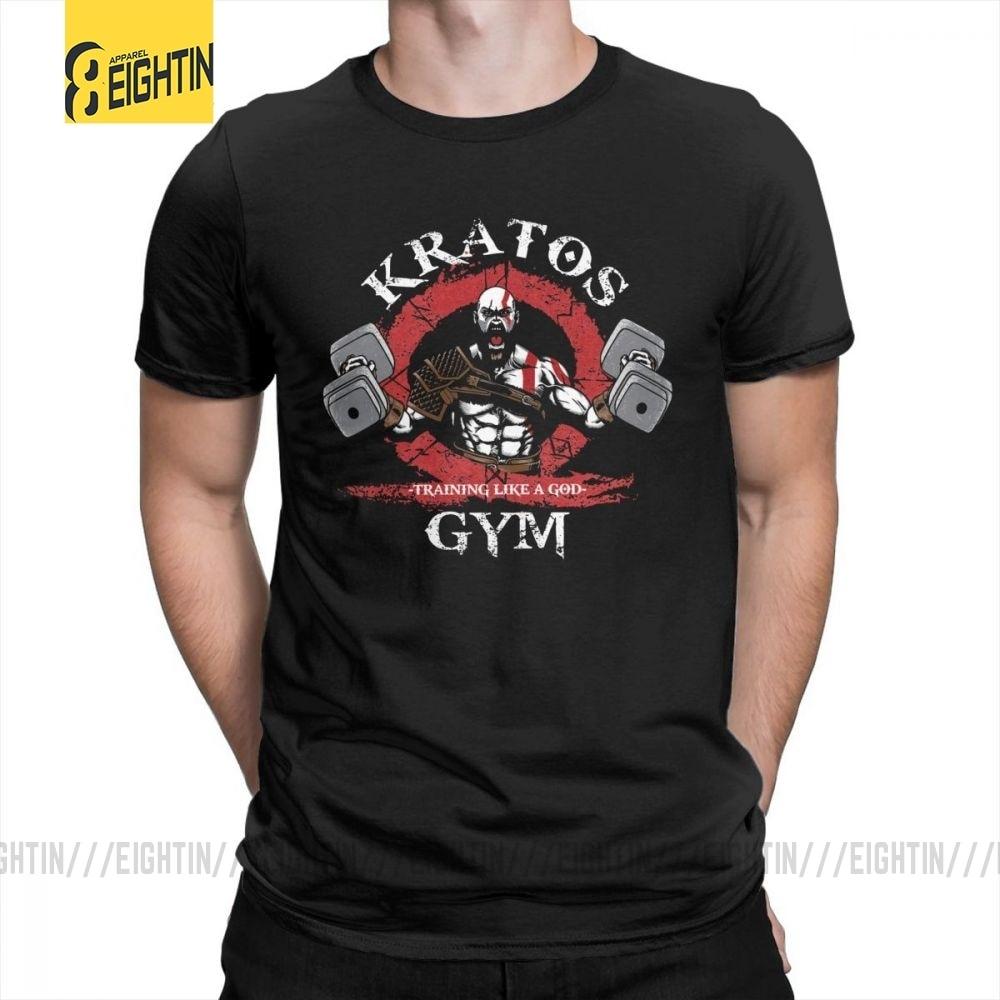 God Of War Kratos Gym Man T Shirt Simple Style Purified Cotton Short Sleeve Tee Shirt Round Collar T-Shirt Printing Tops