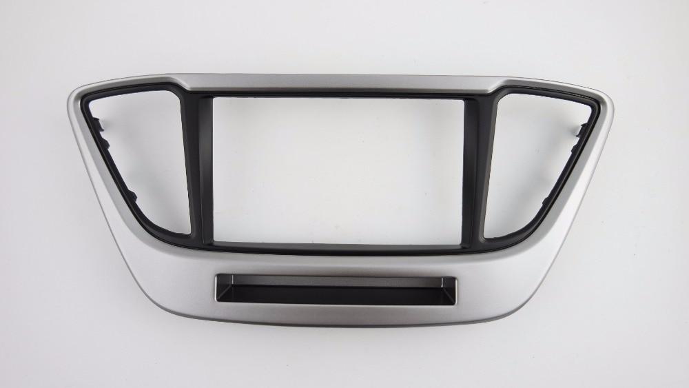 Double Din Facia for Hyundai Solaris Verna i-25 Accent 2016+ Radio DVD Stereo CD Panel Dash Kit Trim Fascia Face Plate Frame