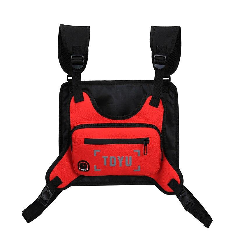 Ночной светоотражающий спортивный жилет для тренировок, бега, нагрудная сумка для спорта, кемпинга, бега, велоспорта, рюкзак, сумка с отверс...