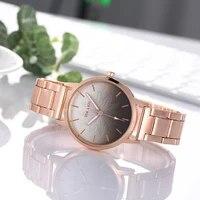 rose gold women watches frosted stainless steel dial mesh belt ladies sleek minimalist quartz wristwatches relogio feminino