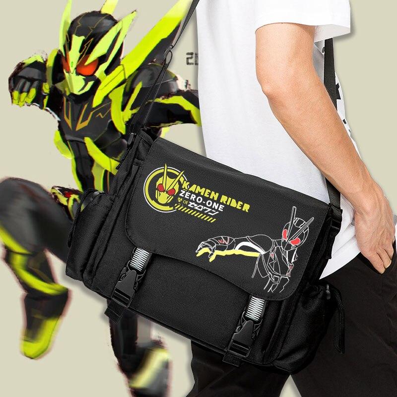 حقيبة كتف كرتونية Kamen Rider Zero-One ZIO ، حقيبة كتف عصرية للرجال والنساء ، حقيبة مدرسية للطلاب ، حقيبة ساعي تأثيري