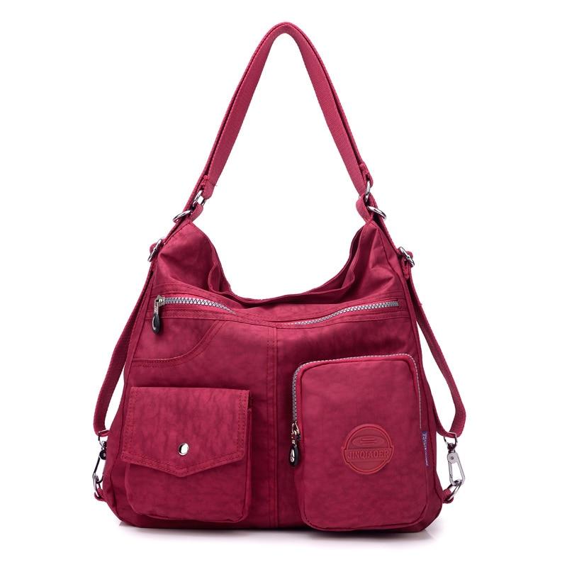 حقيبة ظهر نسائية 3 في 1 ، حقيبة كتف متعددة الوظائف ، حقيبة حمل من قماش النايلون ، حقيبة تسوق قابلة لإعادة الاستخدام ، حقيبة سفر مع حزام كتف