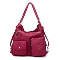 Многофункциональный женский рюкзак 3 в 1, нейлоновая многоразовая сумка-тоут для покупок, дорожная дамская сумочка через плечо