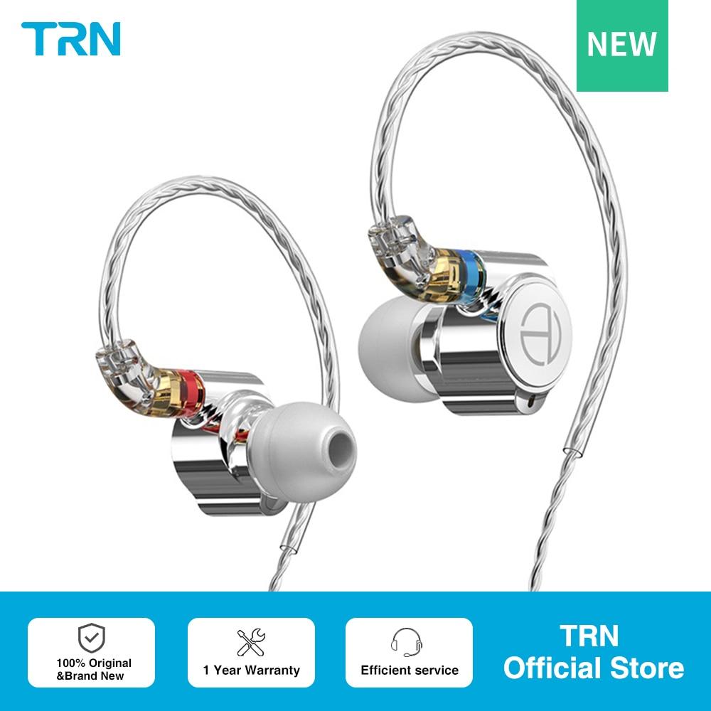 Наушники-вкладыши TRN TA1 Hi-Fi 1BA + 1DD Hybrid (Knowles 33518,8 мм динамик), металлические Hi-Fi наушники с басами и монитором для бега, спортивные наушники