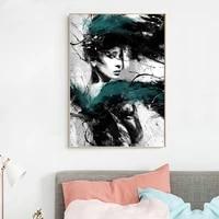 Toile de peinture abstraite de Style moderne pour femmes  affiches dimages  galerie dimprimes  decoration de la maison  sans cadre