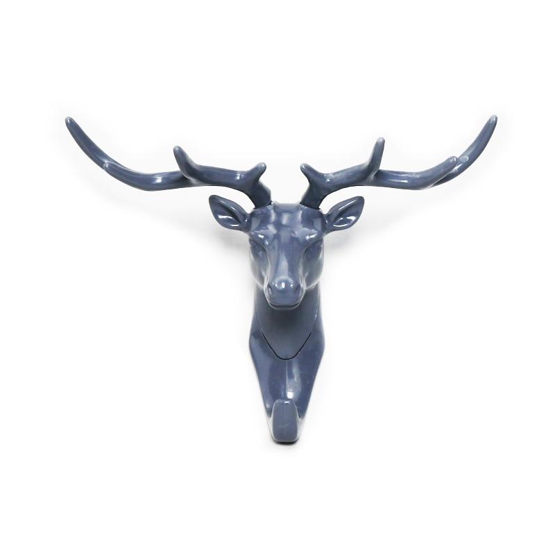 1pcs antler shape home hook wall rack wall hanging creative wall personality deer head wall key holder