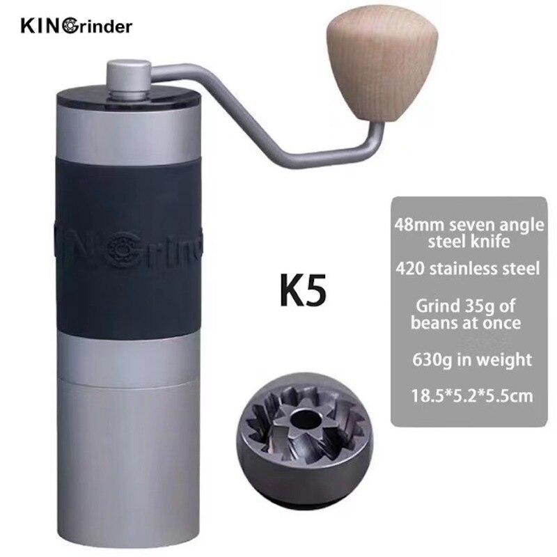 هان k5 طاحونة القهوة اليدوية عالية الجودة الألومنيوم المحمولة مطحنة القهوة لدغ مطاحن قهوة التيتانيوم الصلب طحن Core35g