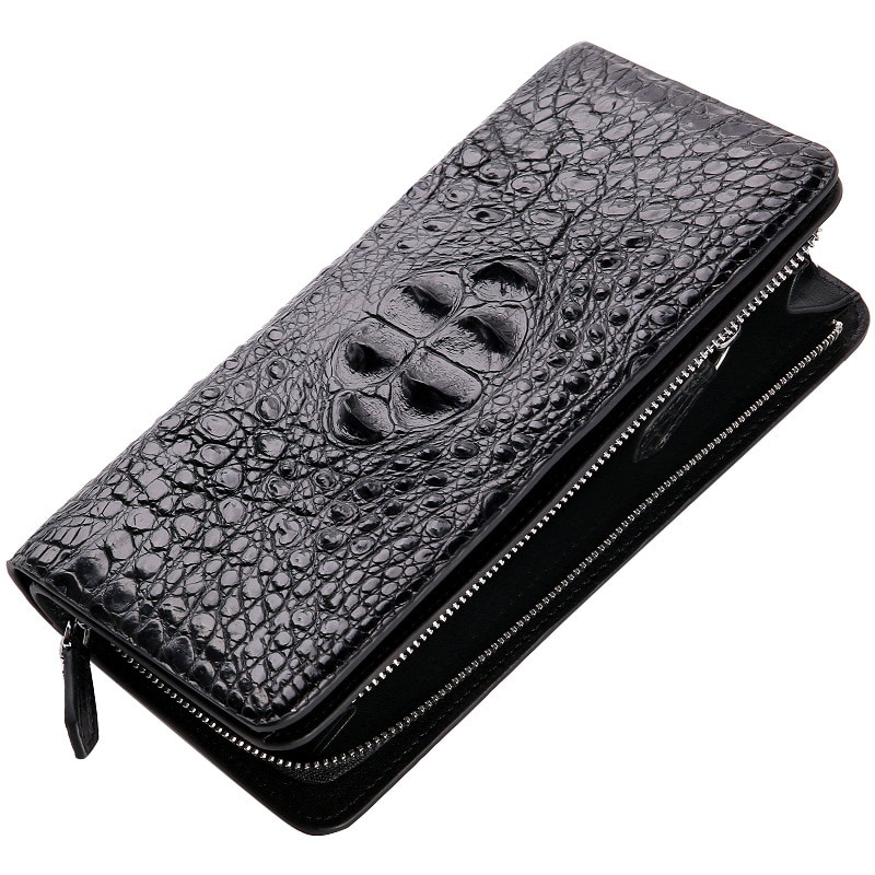 Crocodile Business Affairs Fashion For Man Genuine Leather Hand Package Male High Archives Long Fund Zipper Wallet free shipping