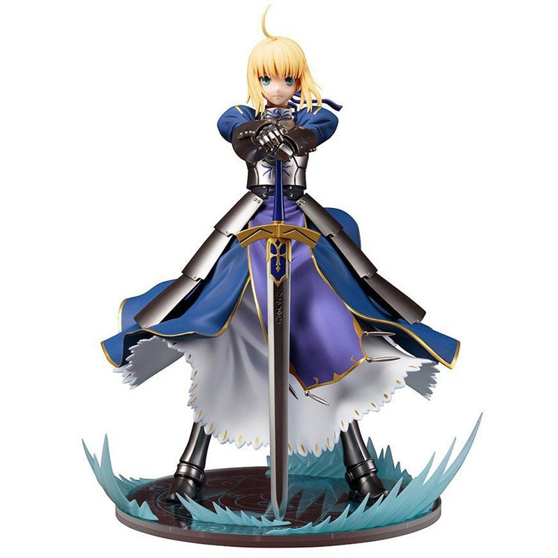 10cm anime fate stay night saber figurine pvc action figure replaceable accessorie model toy birthday gift movie collection 23cm Anime Action Figure Fate/stay Night Altria Pendragon UBW Saber King of Knights Ver Model Collection Toy Home Decoration