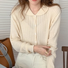 Korean Breasted Women Shirt Chic Autumn Gentle And Small Lapel Single Thin Pit Strip Soft Skin Frien