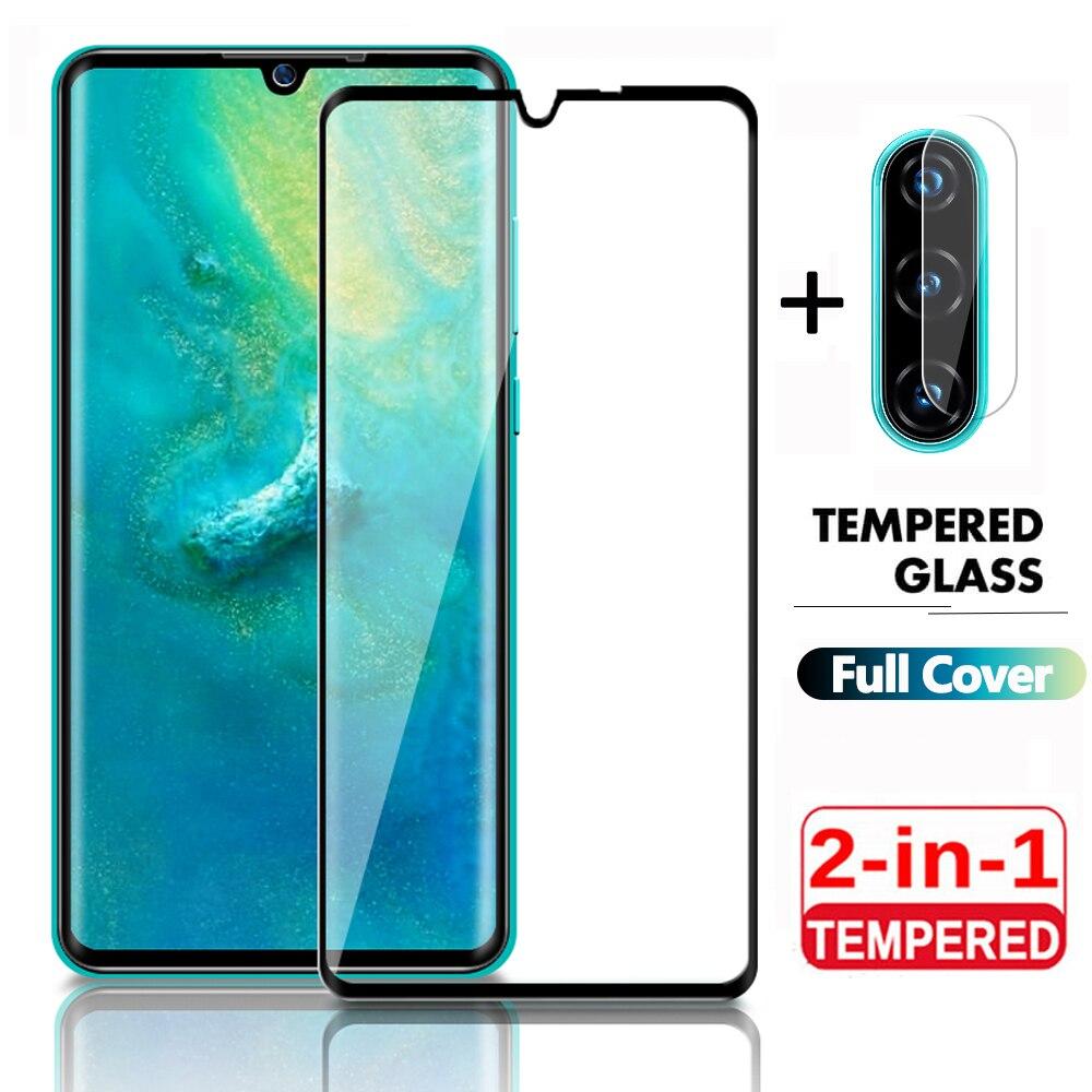 Protetor de tela 2 em 1 para huawei mate 20lite p smart, filme de lente 2019 para mate 20lite p smart2019 vidro temperado de proteção