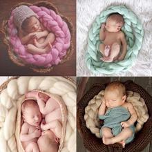 Accessoires de photographie pour nouveau-nés   Accessoires de couverture, tresse de laine, enveloppement doux et extensible, écharpe de bébé, accessoires pour photographie
