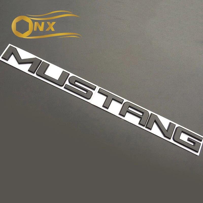Металлический автомобильный значок с английскими буквами MUSTANG Tail box, наклейка на кузов автомобиля для Ford Mustang 15-18