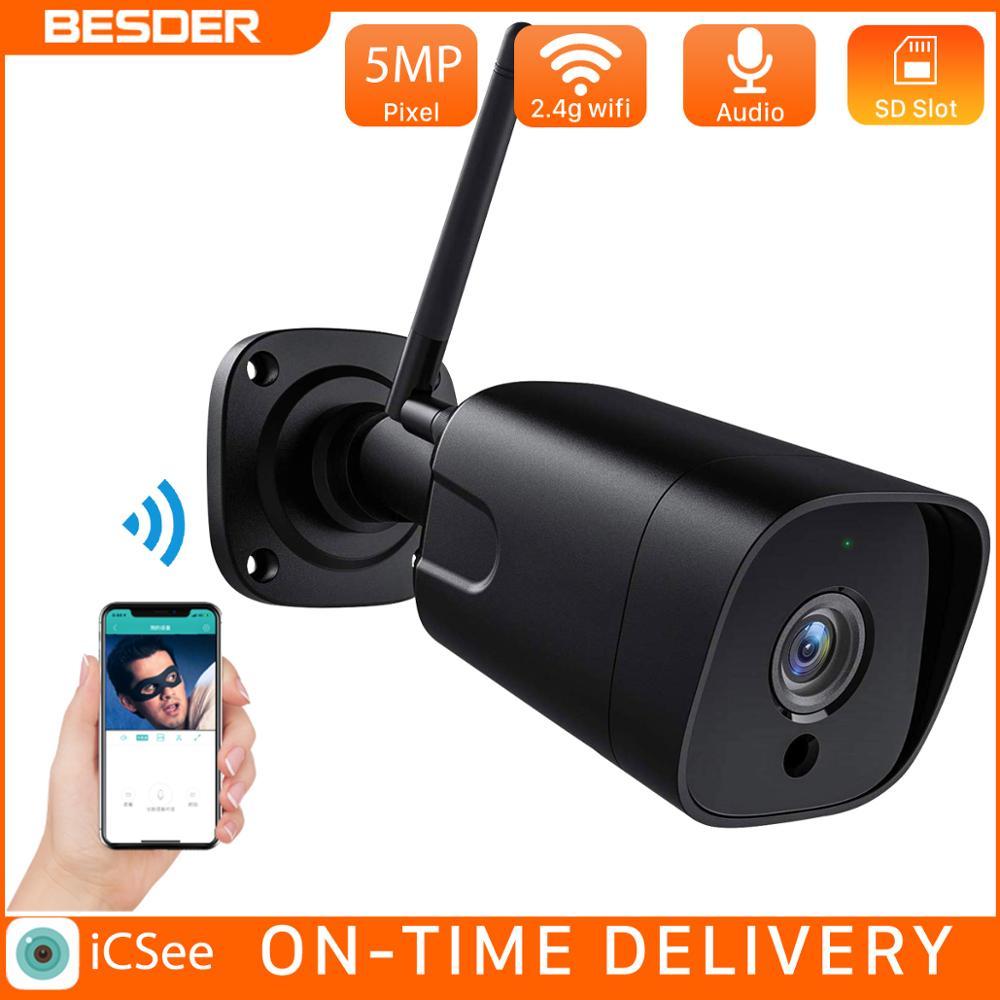 BESDER 5MP SONY capteur étanche 2-wayAudio balle intelligente IP caméra de sécurité WiFi caméra détection de mouvement Onvif CCTV Surveillance
