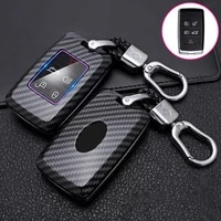 abs carbon fibe car remote key shell cover protect case for land rover range rover discovery 5 sport for jaguar xel e pace 2019