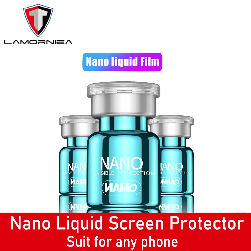 Protector de pantalla Nano líquido de 2 uds para iPhone 11 Pro XS MAX 7 8 6 Plus Universal Anti-rasguño película protectora de vidrio curvado