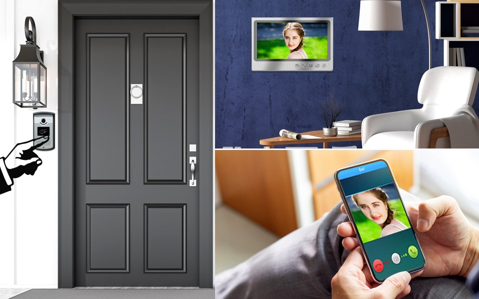New 9'' Screen Wifi Video Intercom Door phone Record System Night Vision RFID Doorbell Camera Phone Remote Unlock Monitor enlarge