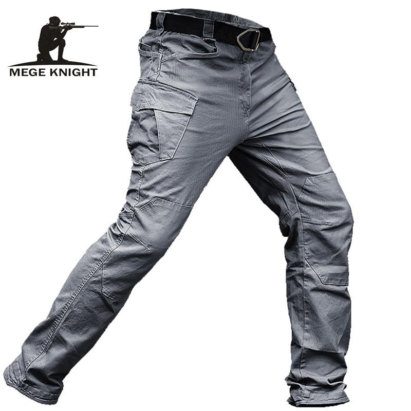MEGE-بنطلون كارجو تكتيكي للرجال ، ملابس عسكرية ، نمط قتالي غير رسمي ، قطن ، قابل للتمدد ، متعدد الجيوب ، دروبشيبينغ