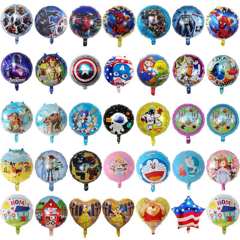 50 قطعة 18 بوصة الأعجوبة كابتن أمريكا سبايدرمان لعبة فيديو احباط بالونات الطفل زينة الحمام حفلة عيد ميلاد ديكور الاطفال لعبة