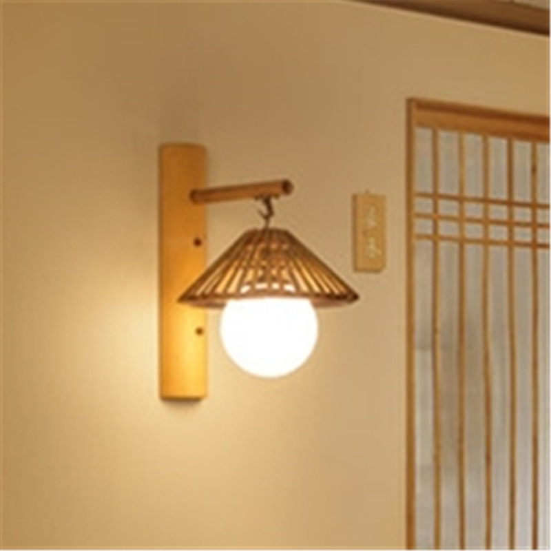 Lámpara de pared Led Retro y nostálgica japonesa, lámpara de mesita de noche, lámpara para comedor, lámpara de pared del dormitorio, Lámpara decorativa para tienda de Sushi