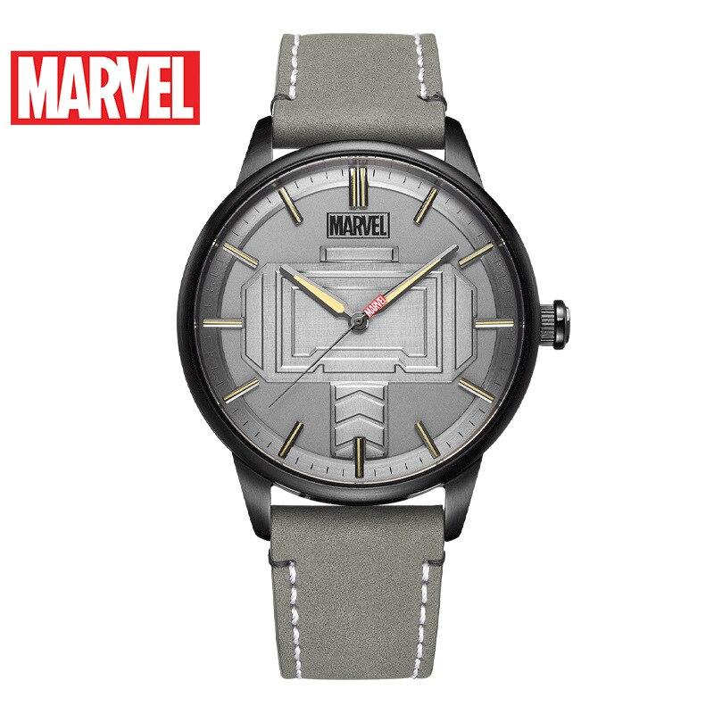 ساعة رجالية من مارفل ، ساعة ترفيهية بحزام كوارتز ، شخصية thunder hammer ، مقاومة للماء ، 3 بار