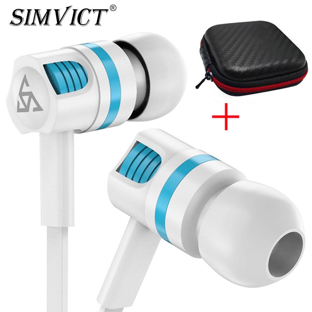 Auriculares SIMVICT T22 con micrófono, auriculares de sonido de alta calidad, auriculares con cable para Xiaomi Redmi