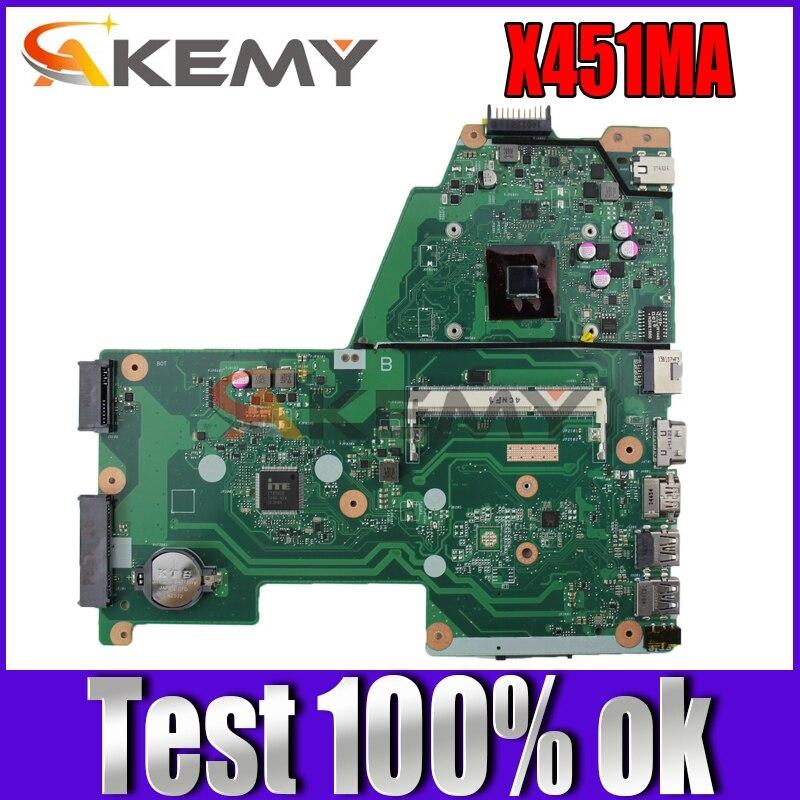 Akemy X451MA اللوحة الأم لأجهزة الكمبيوتر المحمول ASUS X451MA F451M اللوحة الرئيسية الأصلية