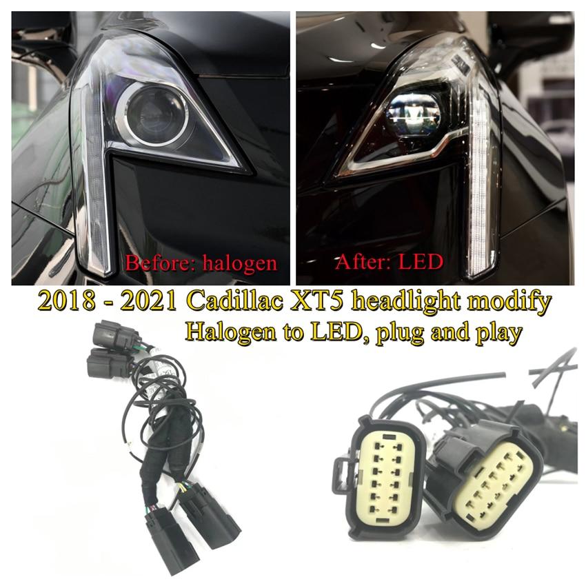 Модификация автомобильной фары CZMOD, улучшенная специальная модель, ремень для 2018-2021 Cadillac XT5, галогенная светодиодная подсветка «подключи и р...
