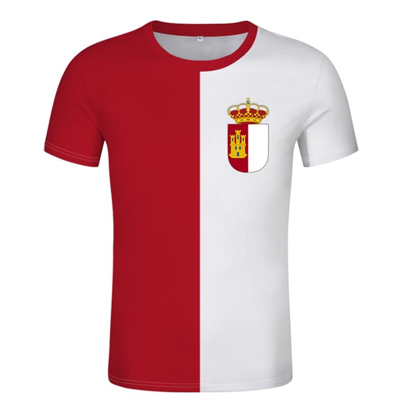 Camiseta de CASTILLA LA MANCHA con nombre personalizado, camiseta de toledo con...
