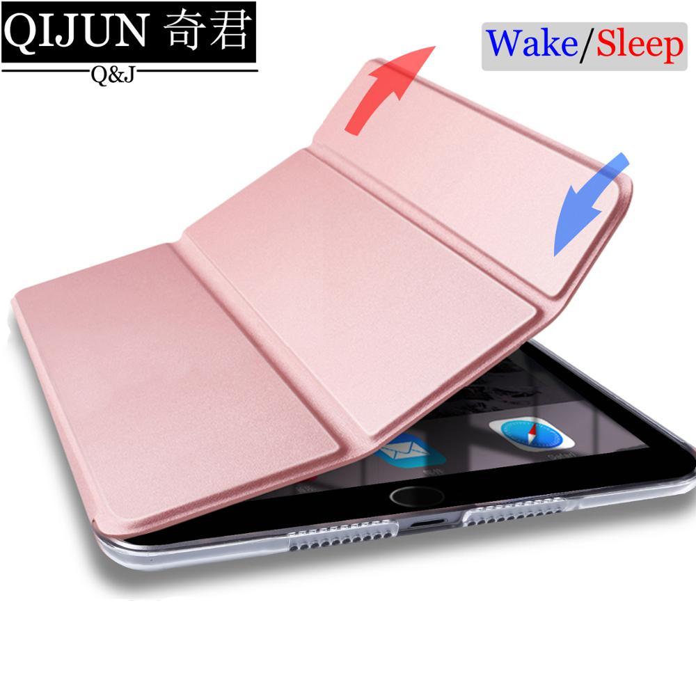 Funda de tableta para Apple ipad Air 2 de 9,7 pulgadas, funda de polipiel para Smart Sleep wake, funda sólida con soporte y tapa para Air2 A1566 A1567