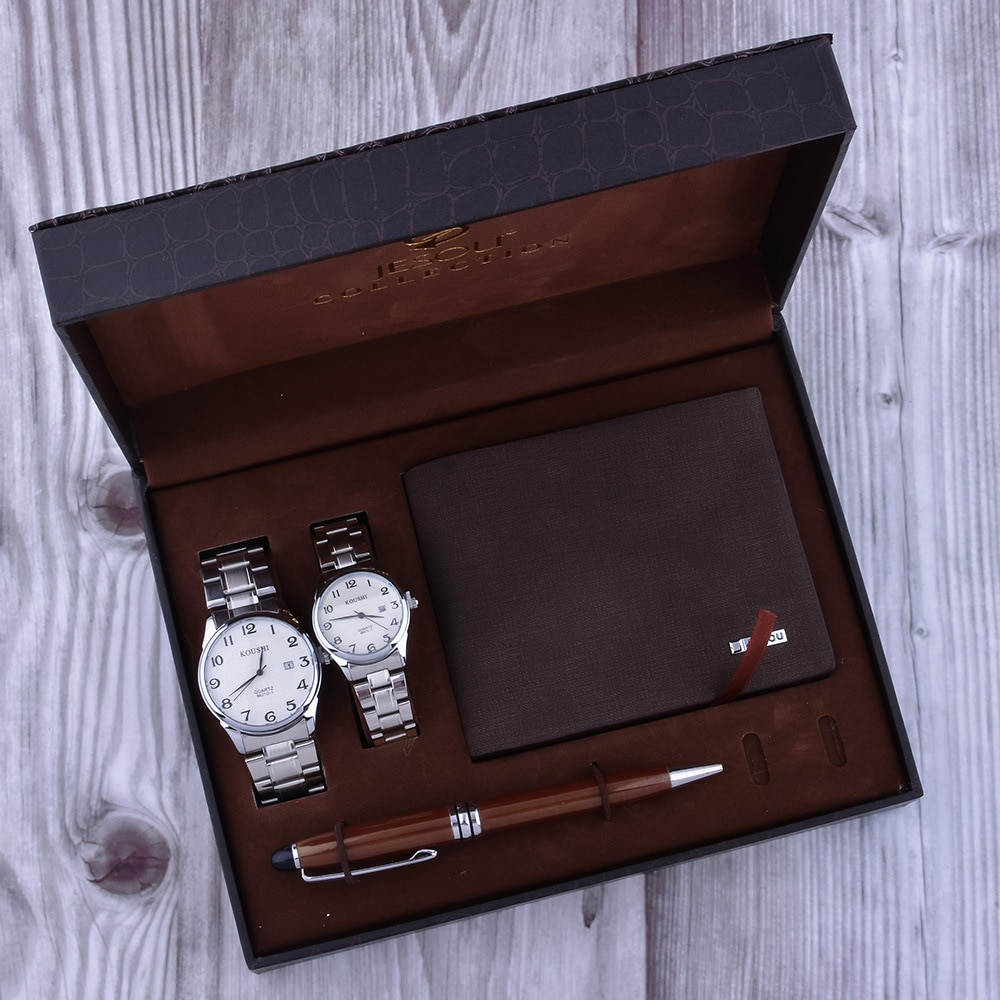European and American exquisite business gift set men's fashion atmospheric waterproof watch father's day gift enlarge