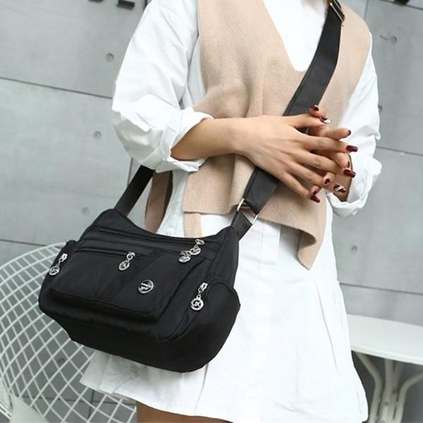 2020 Fashion Women Shoulder Messenger Bag Waterproof Nylon Oxford Crossbody Bag Handbags Large Capacity Travel Bags Purse Wallet
