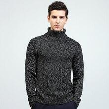 Hiver chaud pull à col roulé hommes mode solide tricoté hommes chandails couleur unie pull décontracté hommes Slim Fit pulls tricotés