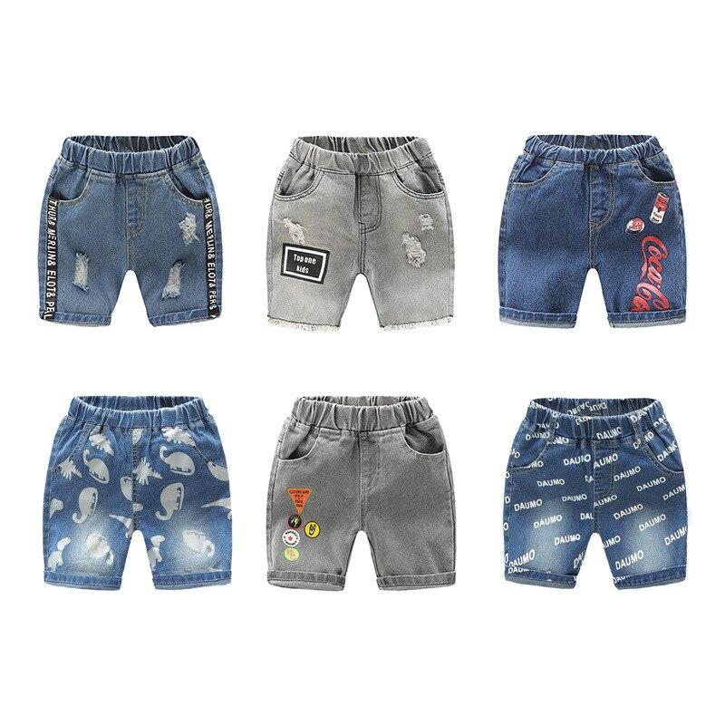 Summer Boys Shorts Soft Denim Fashion Short Jeans Pants Girls Clothes Casual Trousers Kids Pocket Shorts Children's Clothing