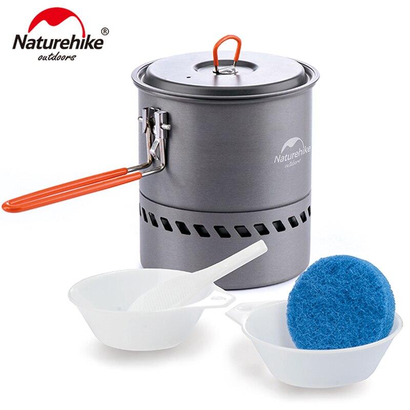 Naturehike 2-3 personas olla de Picnic antiadherente y olla de Camping al aire libre plegable utensilios de cocina NH15T216-G