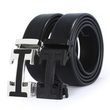 2020 Models Brand-Name  Leather Automatic Buckle Top Layer  Belt Pure Men's Business Pants Belt H-Sh