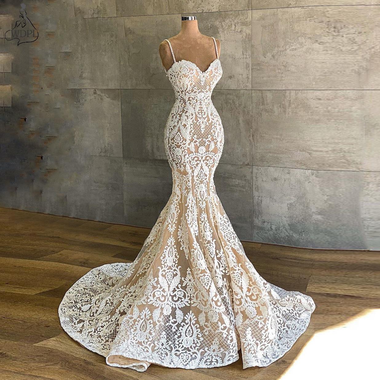 Vestidos de novia románticos de sirena, superventas en 2019, vestidos de novia...