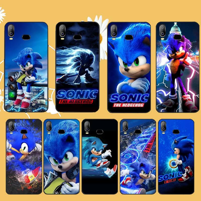 NBDRUICAI animación Sonic The Hedgehog negro TPU funda de teléfono suave para Samsung A10 A20 A30 A40 A50 A70 A71 A51 A6 A8 2018