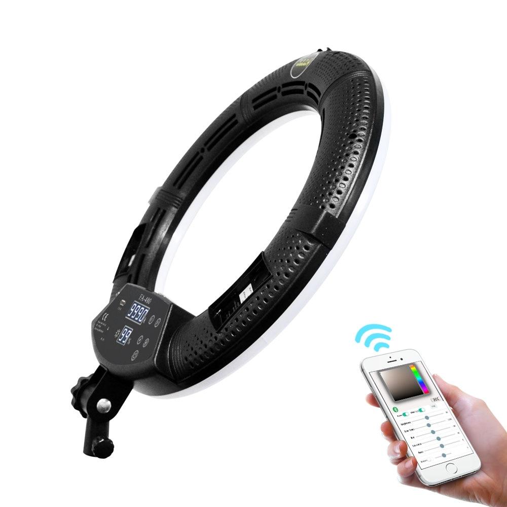 Yidoblo FA-480 bluetooth app controle anel luz led câmera photo studio anel lâmpada fotografia toque tela anel lâmpada 2800 k-9900 k