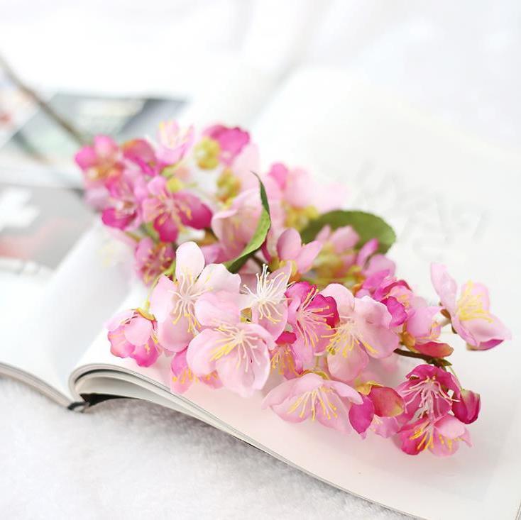 Flores Artificiales De Cerezo De Seda Flor De Ciruelo Artificial Para la...