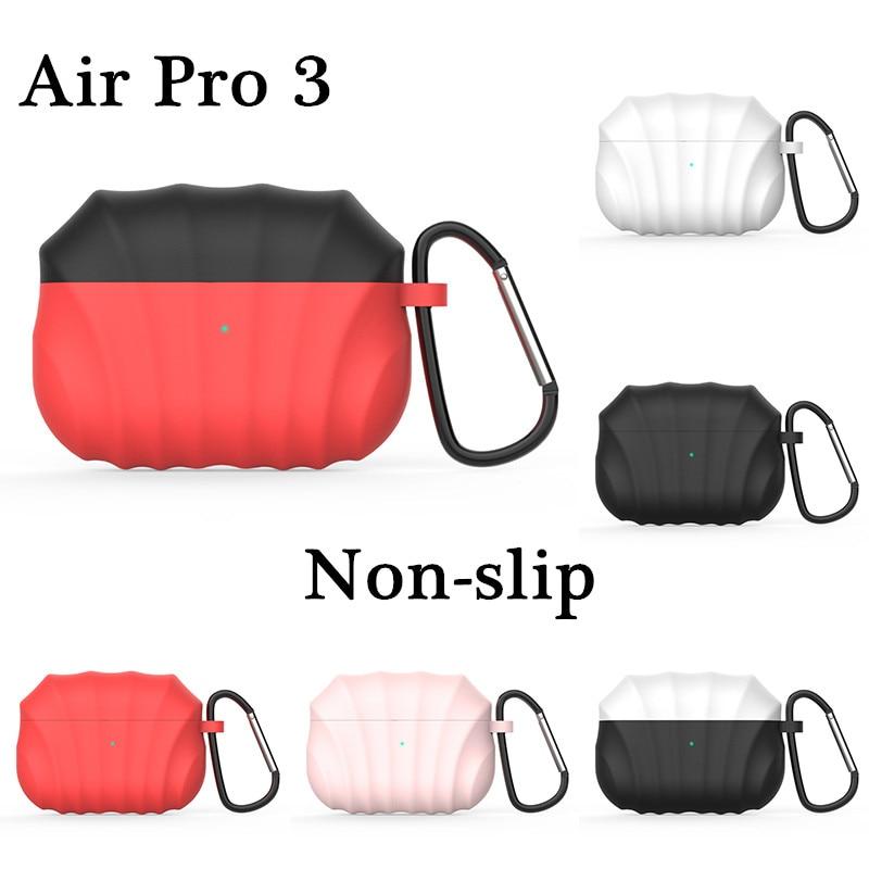 Funda antideslizante para Airpods, funda de silicona inalámbrica con Bluetooth para Apple Airpods3 Pro, accesorios, funda de silicona