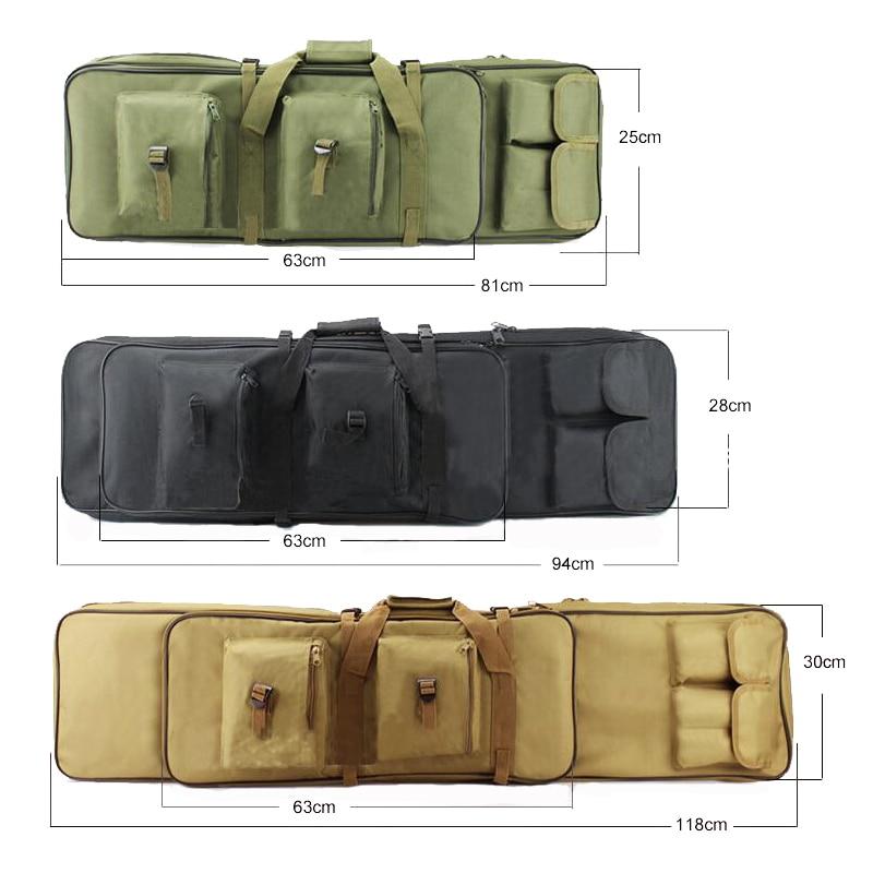 Caça rifle arma caso 81/94/118cm tático saco de arma engrenagem do exército militar tiro airsoft coldre arma carry proteção mochila