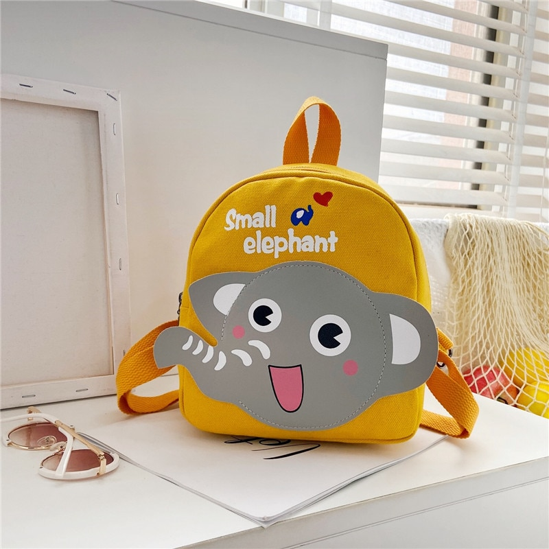 2021 Children Backpacks Kids 3D Cartoon Animal Elephant Schoolbag Kindergarten Baby Girls Boys School Bags