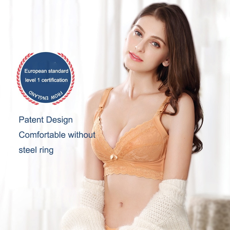 Breathable Cotton for women Maternity Nursing Bra Pregnancy Breast Feeding Underwear Bralette Adjusted bra lace sexy underwear enlarge