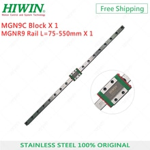 HIWIN Guide linéaire en acier inoxydable   9mm MGN9 200 250 270 300 350 400 450 500mm + rail linéaire + bloc MGN9C, livraison gratuite