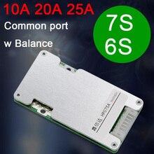 7S 6S 24V Li-ion Lithium batterie Protection conseil Balance énergie solaire 18650 Lipo Packs BMS batteries 10A 20A 25A pour JBD ebikE