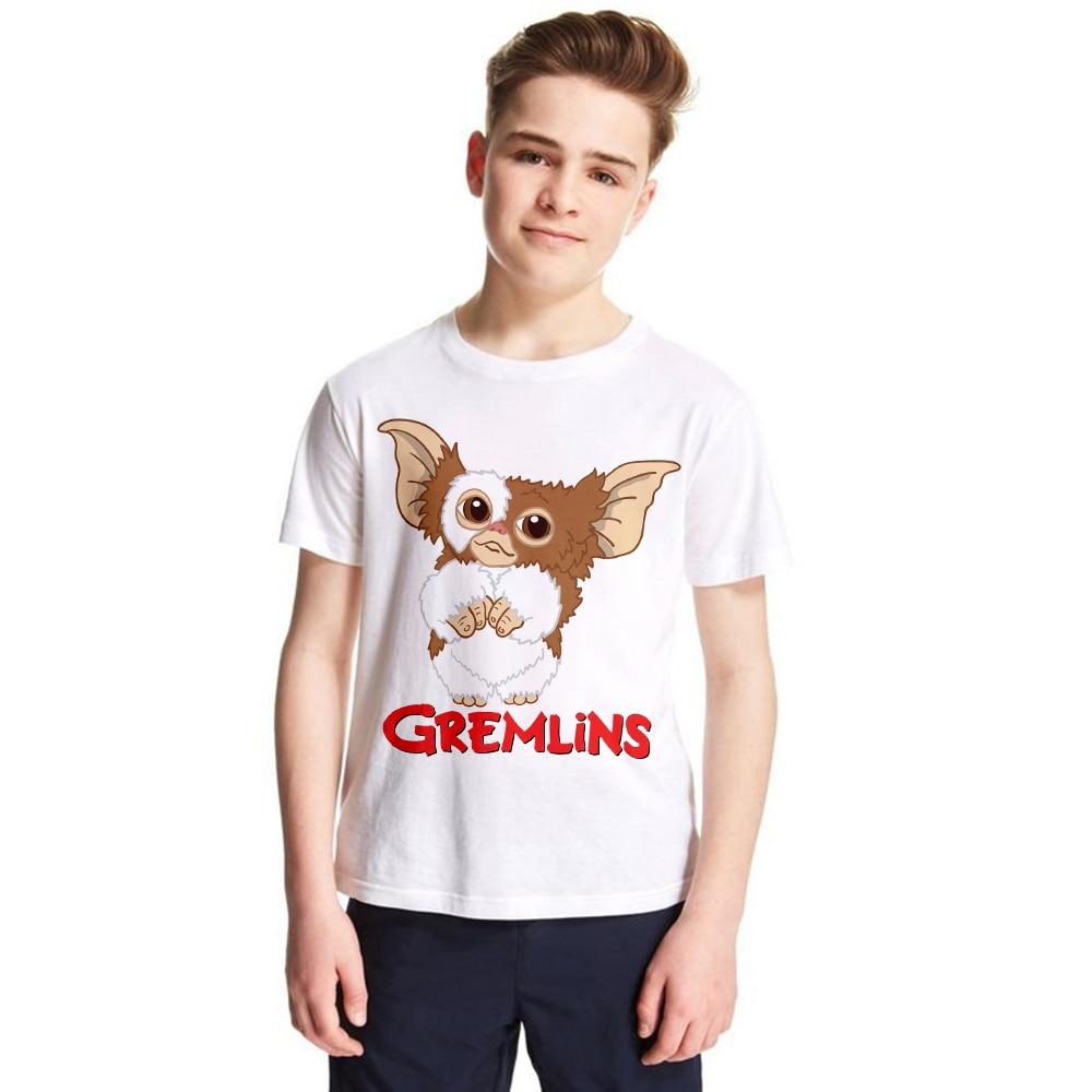 Детская футболка Gremlins Gizmo, летняя футболка для маленьких мальчиков и девочек, Забавные футболки с рисунком, Детская летняя одежда, новинка 2019