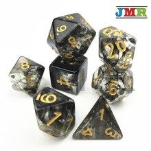 Haute qualité Nebular Juegos De Mesa Dados jeu De dés noir De D4 D6 D8 D10 D10 % D20 forRpg jeu De société